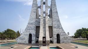 Modern Buildings Accra Ghana Independence Arch Rich Modern Buildings Dusty