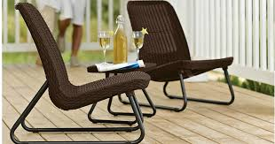 All Weather Patio Chairs Sears 3 All Weather Outdoor Patio Chair Set Only 80 34