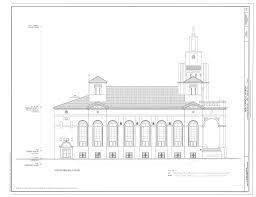 Catholic Church Floor Plans File North Side Elevation Gesu Catholic Church 118 Northeast