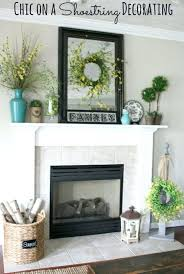 decorative fireplace screen small resurfaced concrete indoor green