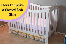 Baby Crib Bed Skirt Runs With Spatulas Crafty Fridays How To Make A Pleated Crib
