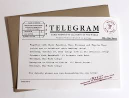 telegram wedding invitation luxury vintage telegram wedding invitations vintage wedding ideas