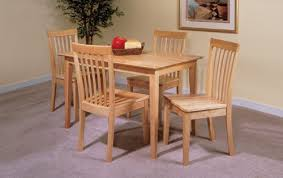 Amazon Com 5 Pc Set Natural Solid Pine Wood Dining Room Kitchen