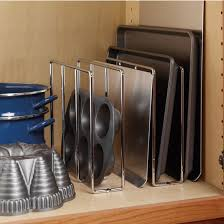 Under Cabinet Pot Rack by Tray Organizers Divide Your Cookie Sheets Pots And Pans Muffin