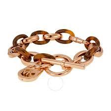 gold tone chain link bracelet images Michael kors rose gold tone and acetate chain link bracelet jpg