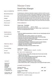 retail sales manager resume experience manager resume template retail sales manager resume exle job