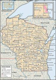 Road Map Of Michigan State And County Maps Of Wisconsin