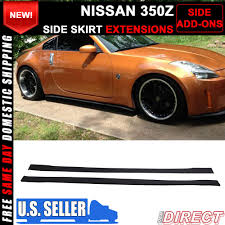 nissan 350z used india fit for 03 07 nissan 350z add on side skirt extensions rockers