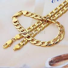 gold filled necklace set images 2018 wholesale 18k yellow gold filled curb chain gf jewelry jpg