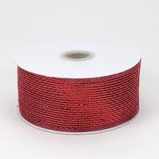 deco mesh ribbon burgundy metallic deco mesh ribbon
