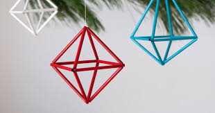 how to make diy colorful geometric ornaments curbly