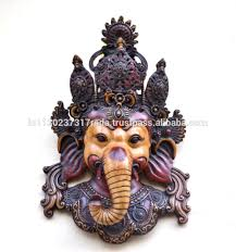 lord ganesha mask antique finish ganesh wall hanging sculpture
