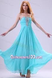 quinceanera damas dresses aqua blue chiffon strapless empire dama dress for quinceanera with