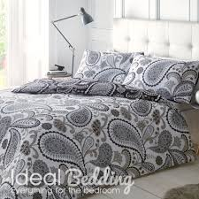 Gray Paisley Duvet Cover Pieridae Paisley Duvet Quilt Bedding Cover And Pillowcase Black