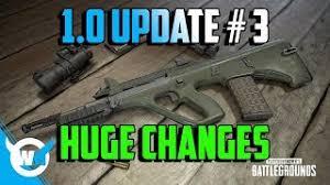 pubg 1 0 patch notes pubg 1 0 update 3 new weapons killcam optimization new ui