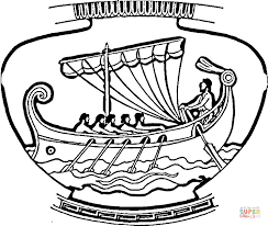 vase ship ornament coloring free printable coloring pages