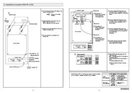 mitsubishi rg79b202g03 air conditioner installation manual