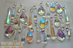 Glass Crystal Chandelier Drops Aurora Borealis Ab Chandelier Drops Glass Crystals Droplets Beads
