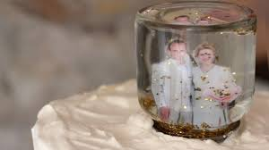 Wedding Cake Accessories Snow Globe Wedding Cake Topper Etsy Weddings Blog