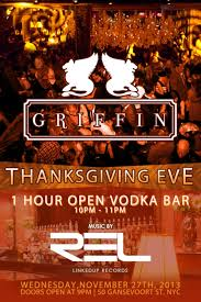 thanksgiving at the griffin murphguide nyc bar guide