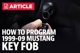 how to program a mustang key fob 99 09 lmr com