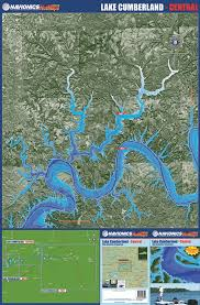 cumberland lake map kentucky lakes