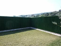 par vue de jardin haies végétales artificielles brise vue pvc aménagement