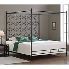 Black Canopy Bed Frame Metal Canopy Bed Frame King Sized Princess
