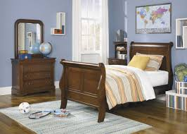 Oak Sleigh Bed Minimalist Chocolate Mahogany Wood Twin Sleigh Bed Oak Hardwood