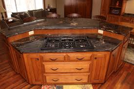 unique kitchen island with awesome stove idea get the nicest
