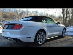 white ford mustang convertible 2015 ford mustang gt start up and review 50 years apperance