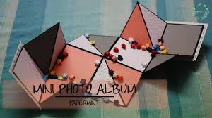 photo album paper how to make a mini photo album diy simple paper folding