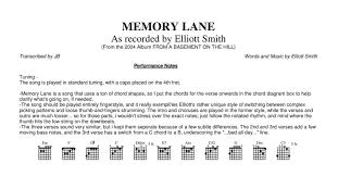 From A Basement On A Hill Elliott Smith Memory Lane Guitar Pdf Docdroid