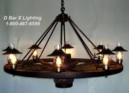 Chandelier Hoists Ww024 60 8 Wagon Wheel Chandeliers With Hurricane Uplights And