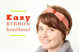 ribbon headband tutorial easy ribbon headband colette