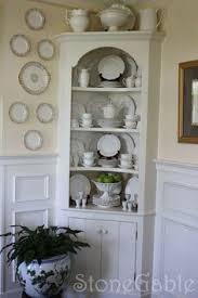 Kitchen Hutch Cabinet Shabby Corner Cabinet Vintage Cabinet Chippy Cabinet Corner
