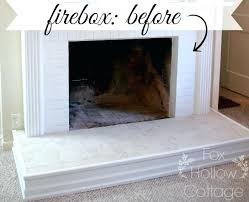 Concrete For Fireplace by Fire Resistant Paint For Fireplaces Fireplace Firebox Before