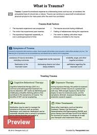 what is trauma worksheet therapist aid