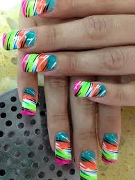 multi colored tiger nail art designs by top nails clarksville tn