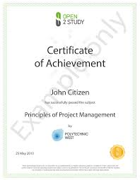 examples of certificates of completion what types of certification or credentials are required for a
