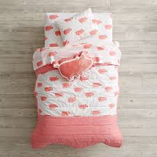 Pink Toddler Bedding Wild Excursion Pig Toddler Bedding The Land Of Nod