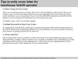 Forklift Operator Sample Resume by Warehouse Forklift Operator Cover Letter