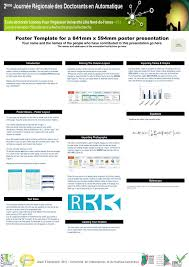 ppt poster template for a 841mm x 594mm poster presentation