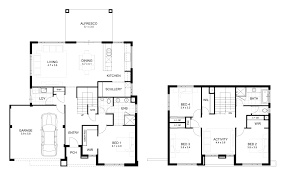 Floor Plan Of Two Bedroom House by Double Storey 4 Bedroom House Designs Perth Apg Homes