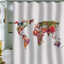 Shower Curtain World Map 31 Best World Map Shower Curtain Images On Pinterest World Maps