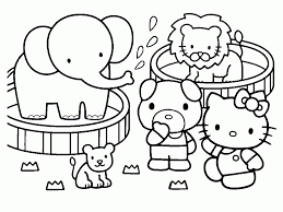 free coloring pages of hello kitty kids coloring