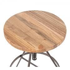 si e pivotant siège de barre pivotant en métal bois d orme massif rustique