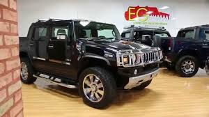 2008 hummer h2 sut luxury for sale blk on blk lots of chrome low