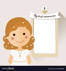 communion invitation my communion invitation with foreground vector image
