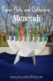 hanukkah plate paper plate menorah